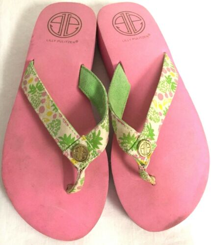 LILLY PULITZER PINK FOAM RUBBER PLATFORM THONG SAN