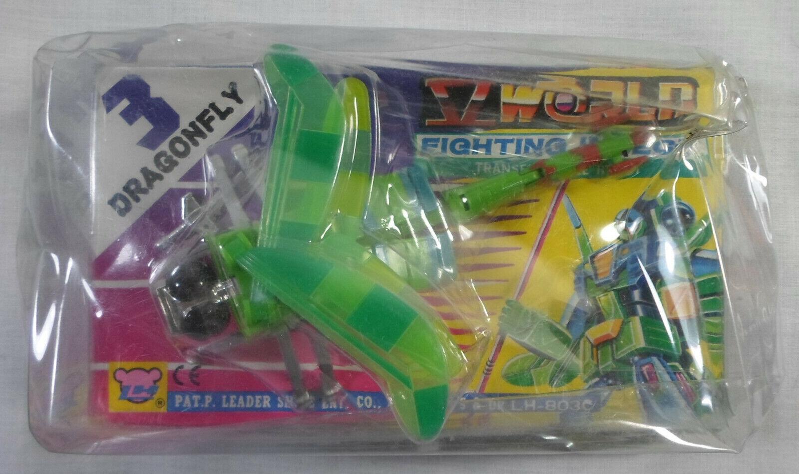 LH VTG 80's V WORLD FIGHTING INSECT 3 - DRAGONFLY TRANSFORMER ROBOT MISP SEALED