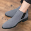 UK-Mens-Formal-High-Top-Chelsea-Ankle-Boots-Shoes-Faux-Suede-Casual-Shoes-Chukka thumbnail 8