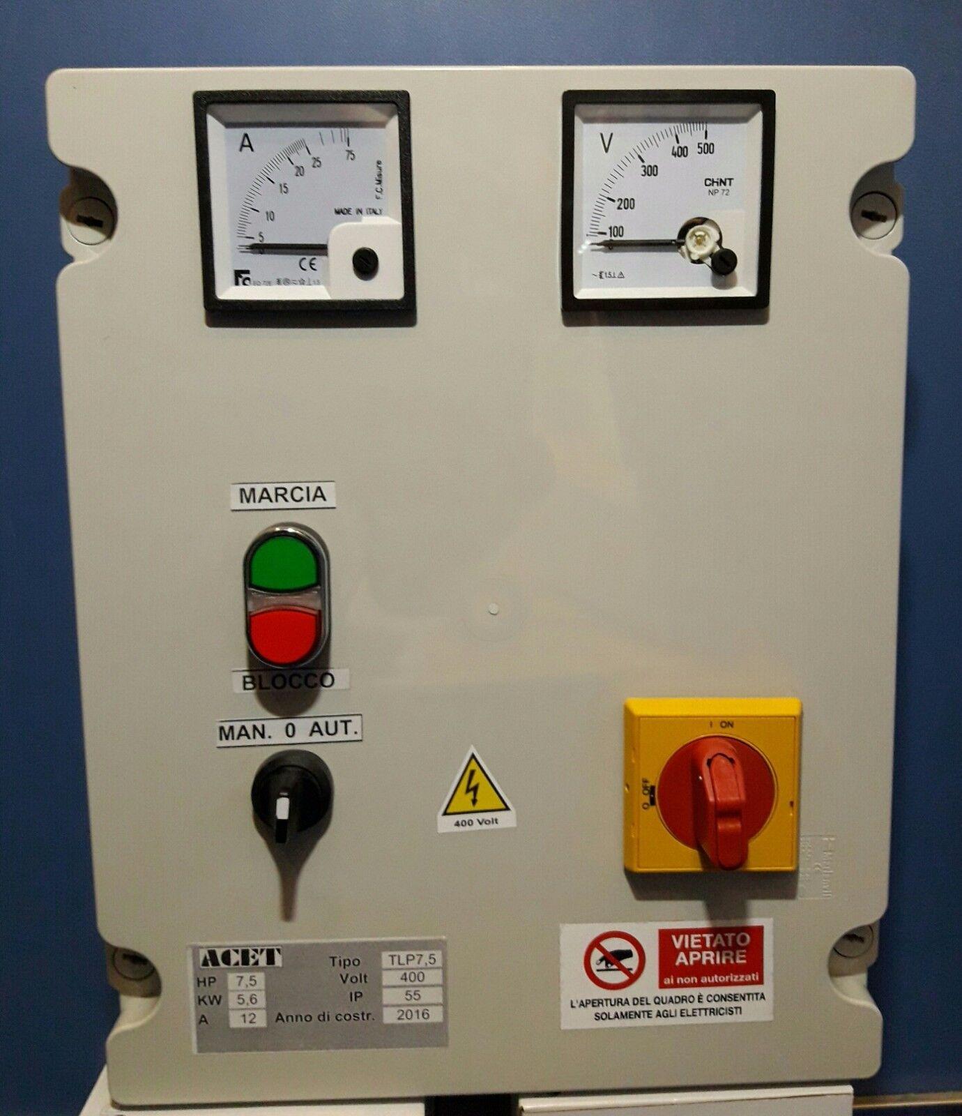 vendita calda Quadro Elettrico  di comando comando comando per elettropompe trifase 400v sommergibili 7,5 HP  ultimi stili