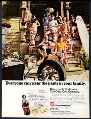 1971 Pantalones De Playa Con Logotipo En La Parte Inferior De Campana De Coque Foto Coca Cola Anuncio Impreso De Coleccion Ebay