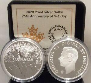 1945 2020 V E Day 75th Anniversary Proof Pure Silver Dollar 1 Canada Coin Ebay