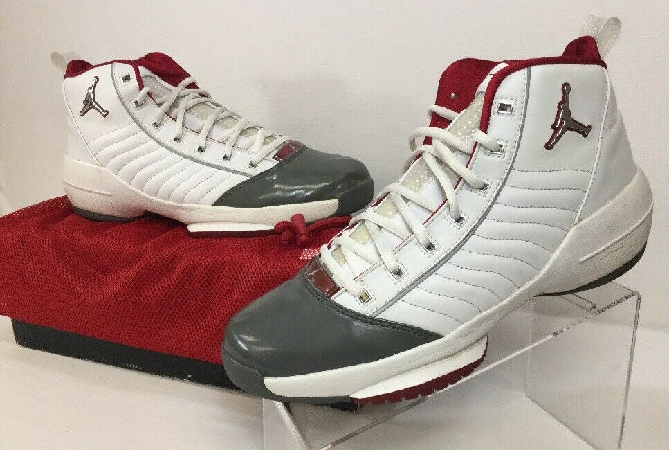 Nike 308492 101 Air Jordan XIX SE Jumpman White Grey Red23 Men's Sz 10.5 M The latest discount shoes for men and women
