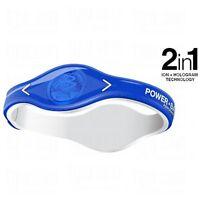 Power Balance Pro Ion Series 100% Silicone Wristband Size: L (20.5cm) Blue/white