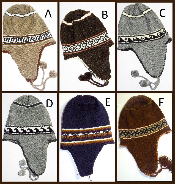 Hat Wool Hat Winter Peru IV Warm Wool Unisex Pattern NEW charitoarte