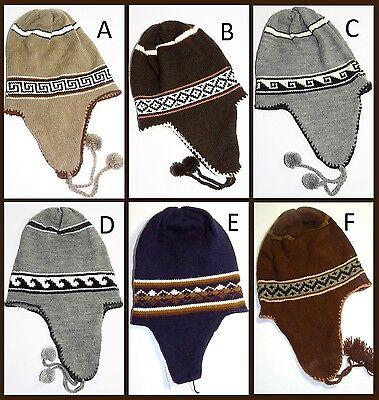 Cappello Berretto Inverno Perù Cuffie Caldo Lana Unisex Modello Nuovo Charitoarte- Rafforza Tendini E Ossa