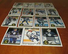 1991-1992 OPC PREMIER    (COMPLETED SET 15  CARDS) TORONTO MAPLE LEAFS