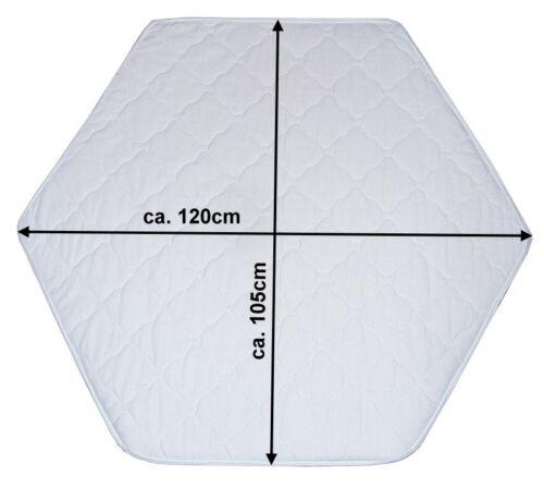 Laufgittermatratze Laufgittereinlage Matratze Weiß Gesteppt für 6-Eck Laufstall
