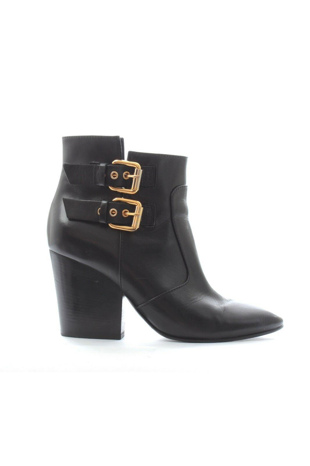 Giuseppe Zanotti Buckle Leather Ankle Boots / Black / RRP: .00