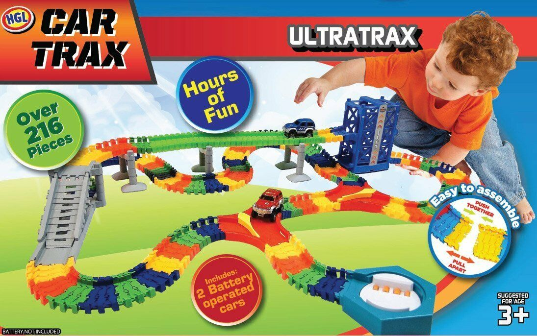 HGL Car Trax UItratrax 216 Piece Playset (Ages 3+) BRAND NEW