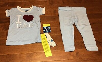Pond I Love Dad Boys 7 KicKee Pants Short Sleeve Pajama Set Little Boys