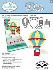 Elizabeth Crafts Designs Cutting Die Set HOT AIR BALLOON WITH POP UP  ~1106