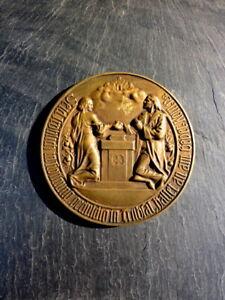 alte-Bronze-Plakette-Medaille-Goldene-Hochzeit-Altpreussische-Union-Sammlerstueck