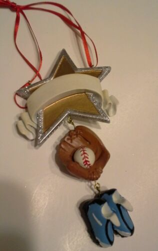 'Baseball Star' Ornament licensed by Kurt Adler NEW WTAG Personalize!