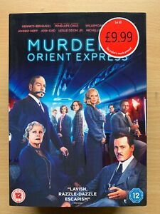 Asesinato-On-The-Orient-Expreso-DVD-2017-Agatha-Christie-Pelicula-con-Funda
