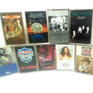 Rock cassette tape lot Aerosmith anthrax Queen Van Halen LA guns Ted Nugent