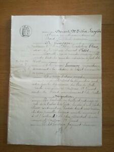 12-Mai-1882-Vente-Oradour-st-Genest-entre-Chesne-Laversanne-7-pages