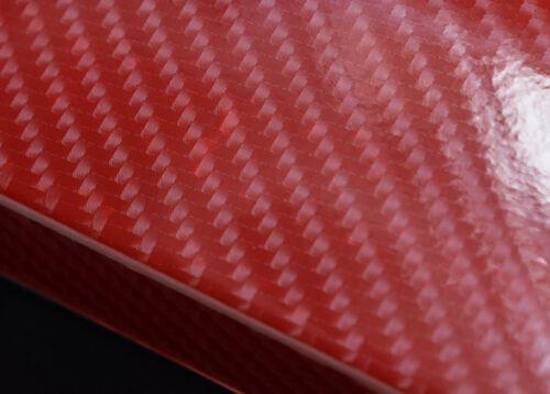 Red Carbon Fiber Car Accessories Door Sill Scuff Cover 5D Anti Scratch Sticker