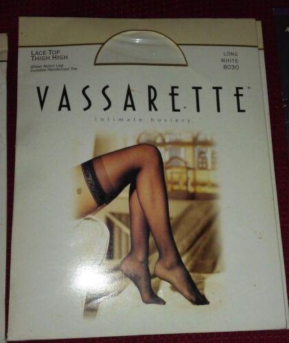 Vassarette Lace Top Thigh High Sheer Nylon Stockings Medium U Choose Black White