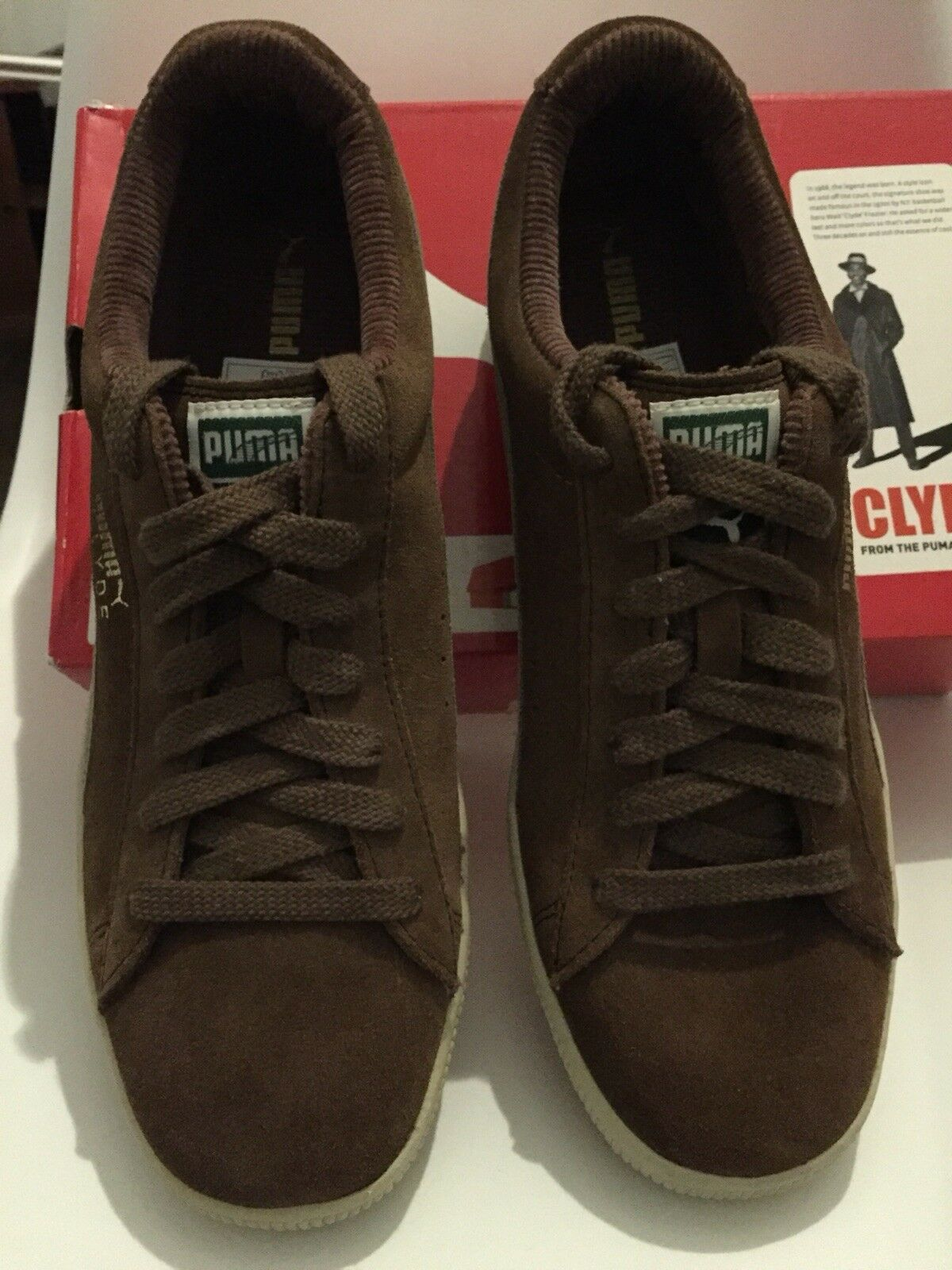 Puma Clyde 2005 Edition , brown , cord , US 9.5