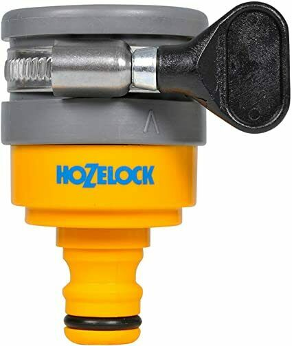 Hozelock Indoor Round Mixer Tap Connector - Outdoor Hose Pipe Connector 14-18mm