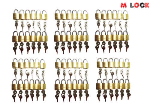 Mini Tiny Lock Box Jewelry KEYED ALIKE LOT OF 108 small brass padlock 20MM