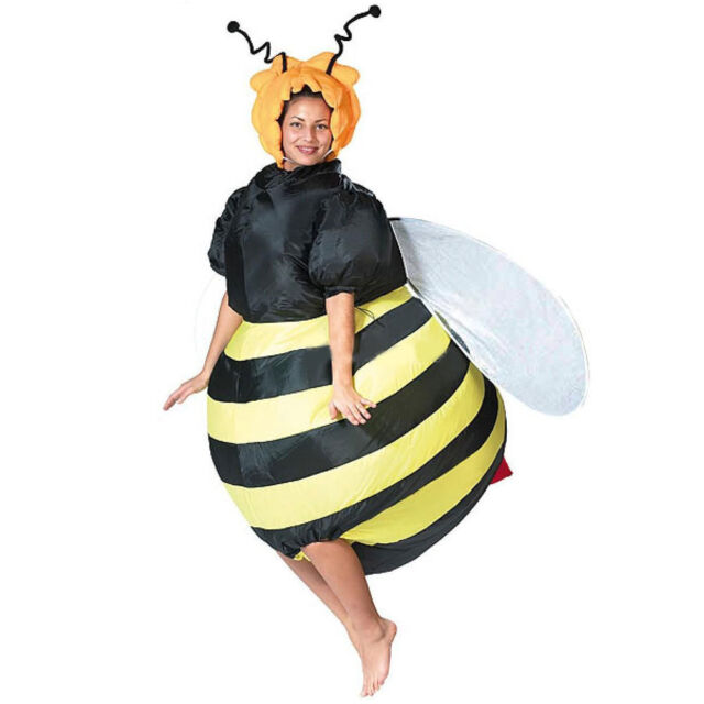 1a7c8bdca9eb Halloween Inflatable Bumble Bee Costume Airblown Honey Bee Dress Adult  Outfit uk