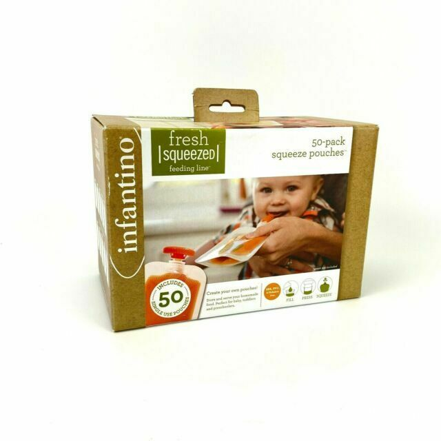 Infantino Squeeze Pouches Pack of 50