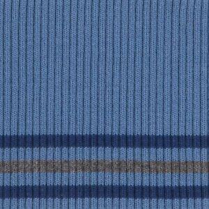 Fertigbuendchen-Cuff-Swafing-Bonnie-Streifen-Rauchblau-100cm-x-8cm