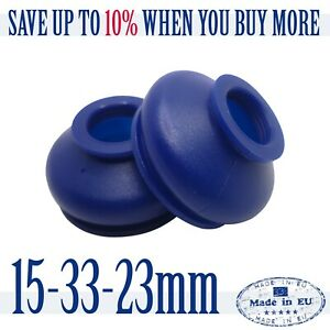 2-X-UNIVERSAL-Dust-Boot-Silicone-15-33-23-Track-Rod-End-and-Ball-Joint-Boot-Blue