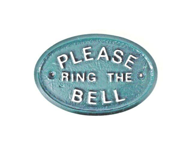BRAND NEW HOUSE DOOR PLAQUE SIGN GARDEN PLEASE RING THE BELL GREEN