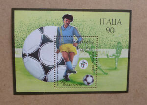 1990-LAOS-FOOTBALL-WORLD-CUP-ITALY-STAMP-MINI-SHEET-MNH