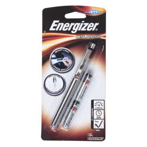 2x Energizer DEL Stylo Torche Lampe de poche-Métal Stylo 2 piles AAA