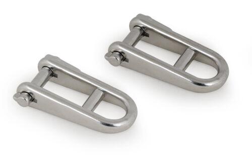 2x Schlüsselschäkel Steg Schäkel Bolzen Schlüsselbolzen Flachschäkel Rundschäkel
