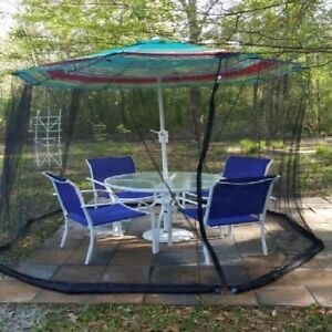 Mosquito Net Canopy Yard Patio Umbrella Cover Flying ...