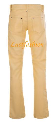 Lederhose Giallo Chiaro Jeans in pelle leather trousers pants YELLOW КОЖАНЫЕ ШТАНЫ cuir