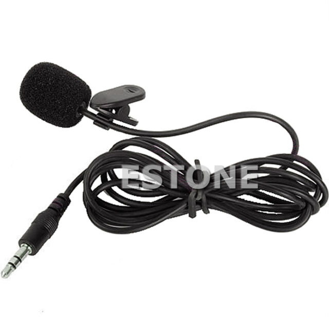3.5mm Hands Free Clip On Mini Lapel Mic Microphone For PC Notebook Laptop