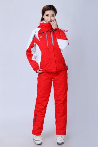 Women/'s Winter Coat Pants Jacket Waterproof Ski Suit snowboard Sports Clothing