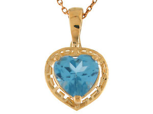 10k or 14k gold simulated aqua heart ladies greek key march image is loading 10k or 14k gold simulated aqua heart ladies aloadofball Choice Image