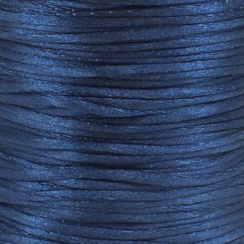 Rattail Satin Cord Thread 1.5mm For Kumihimo Macrame Shamballa 5 Metre Packs