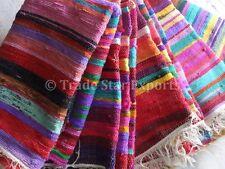 Handmade Rag Rug Runner Large Area Rugs 4x6 Carpet Dhurrie Throw Rugs Oriental
