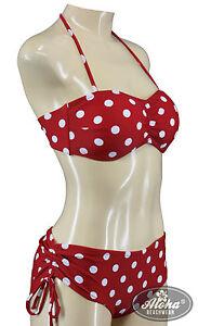 Genossenschaft Vintage Damen Rockabilly Bandeau Polka Dots Bikini Mit Cup Retro Punkte S M L Xl Produkte Werden Ohne EinschräNkungen Verkauft