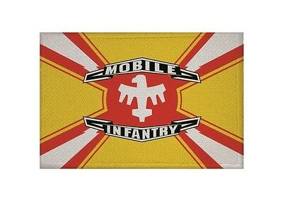 Aufnäher Starship Troopers Mobile Infantrie Flagge Aufbügler Patch 9 x 6 cm