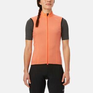 Giro Womens Chrono Expert Wind Cycling Vest - Peach Orange