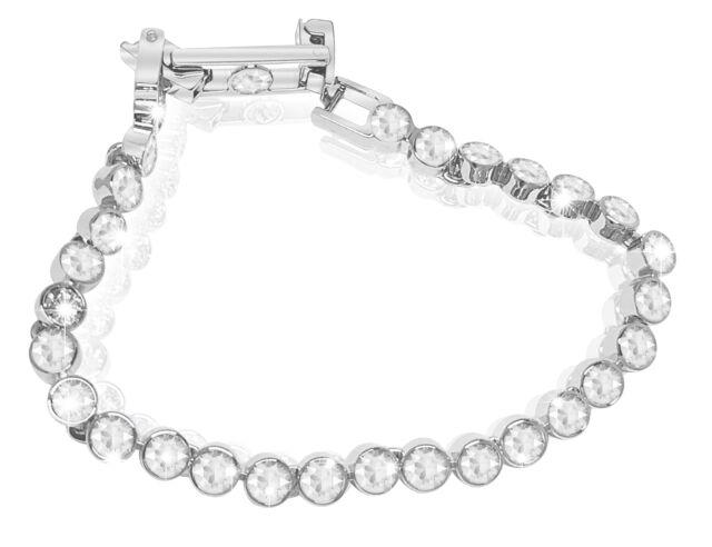 Swarovski Tennis Crystal Bracelet White Rhodium Plated 1791305