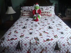 Pottery Barn Full Queen Size Grinch Christmas 9 Piece