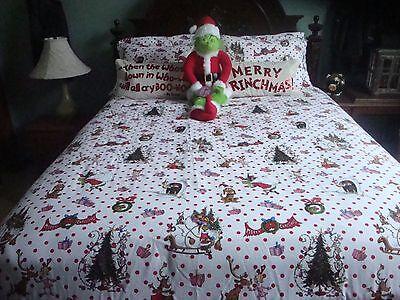Pottery Barn Teen Full Size Grinch Christmas 9 Piece Bedding Set Ebay