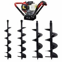 2.3hp V-type 55cc 2 Stroke Gas Post Hole Earth Digger Auger 4 , 6 , 8 , 10
