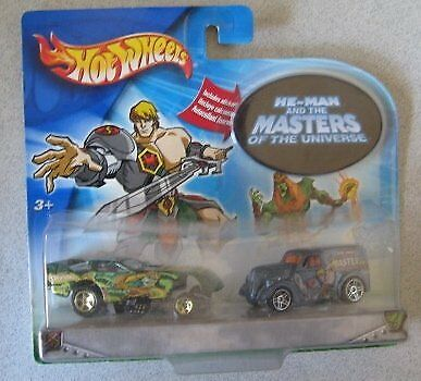 Hot Wheels Wheels Wheels He-Man And The Masters Of The Universe 2 Car Set  Funny Car Ford A... 1ac7ad