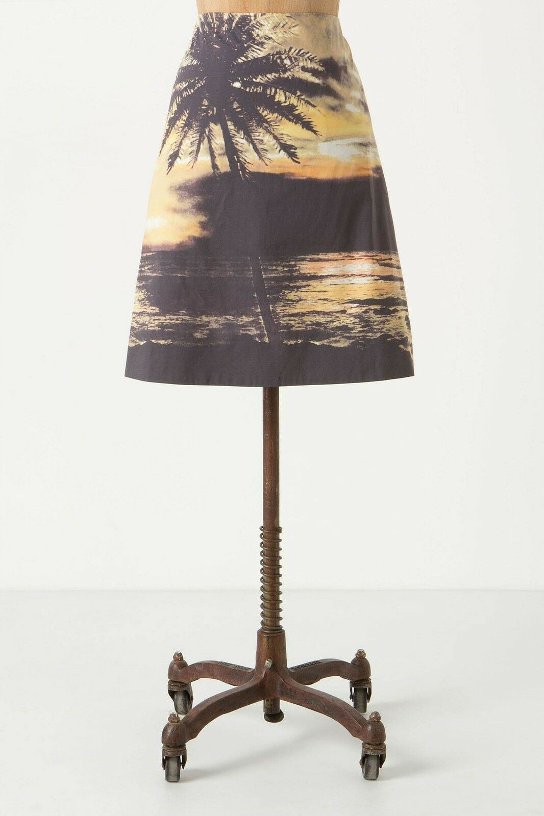 Anthropologie Digital Sunset Skirt by HD in Paris sz 6 Medium
